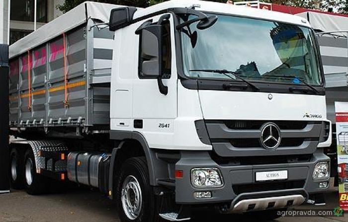 Зерновоз Mercedes-Benz набирает популярность у украинских аграриев