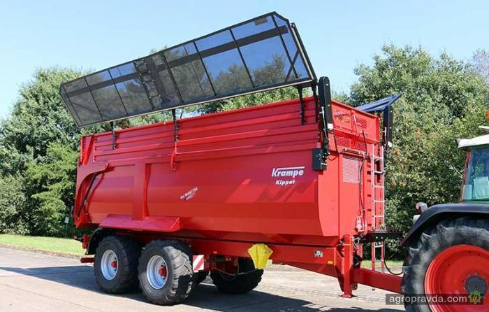 Krampe предложил новый способ удержания силоса при транспортировке