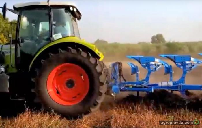 Claas Arion и Lemken Juwel в работе на полях Украины. Видео
