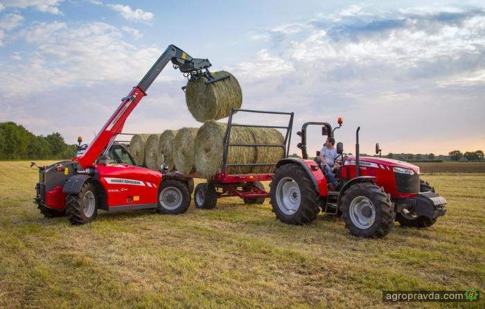 Massey Ferguson выводит на рынок сельхозпогрузчики MF 9000
