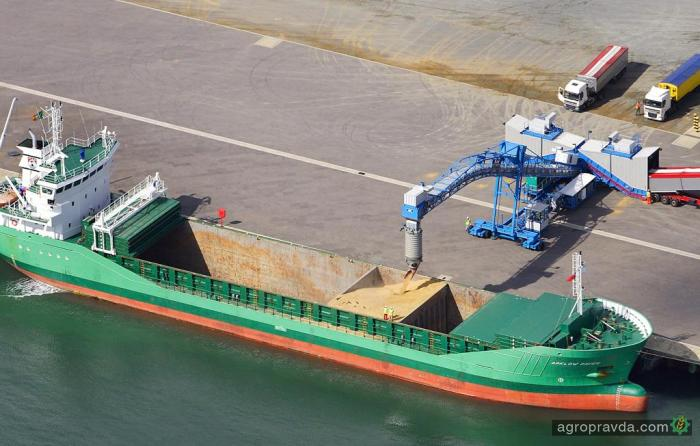 Экспорт зерна составил 26,9 млн тонн