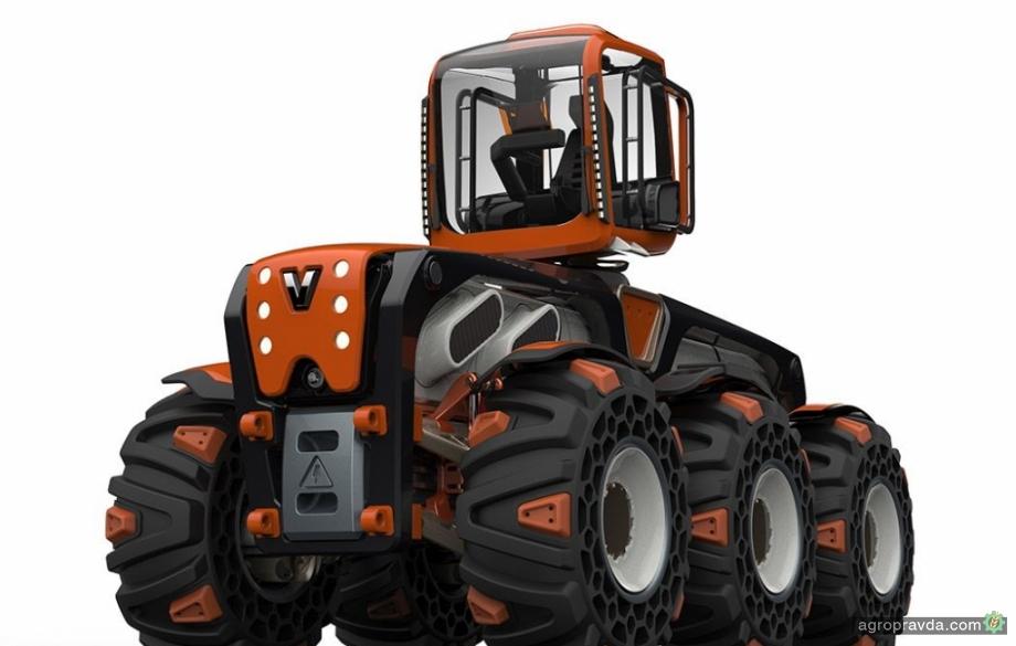 Valtra подготовила новый 6-колесный модульный трактор
