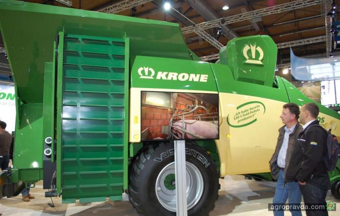 Krone представила революционную новинку для производства пеллет прямо в поле