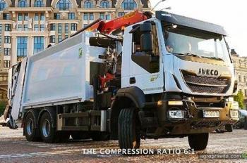 В Украине представили сверхмощный мусоровоз IVECO Trakker