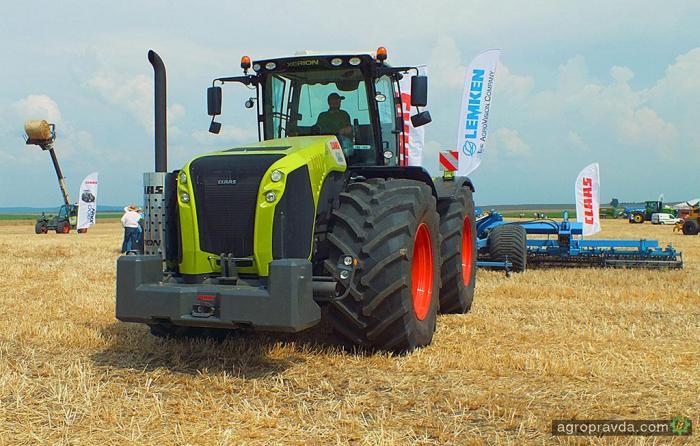 Как работает новый трактор Claas Xerion 5000. Видео