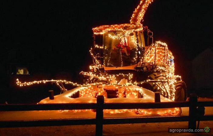 Новогодние комбайны. Фото