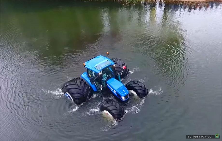 New Holland показал плавающий трактор