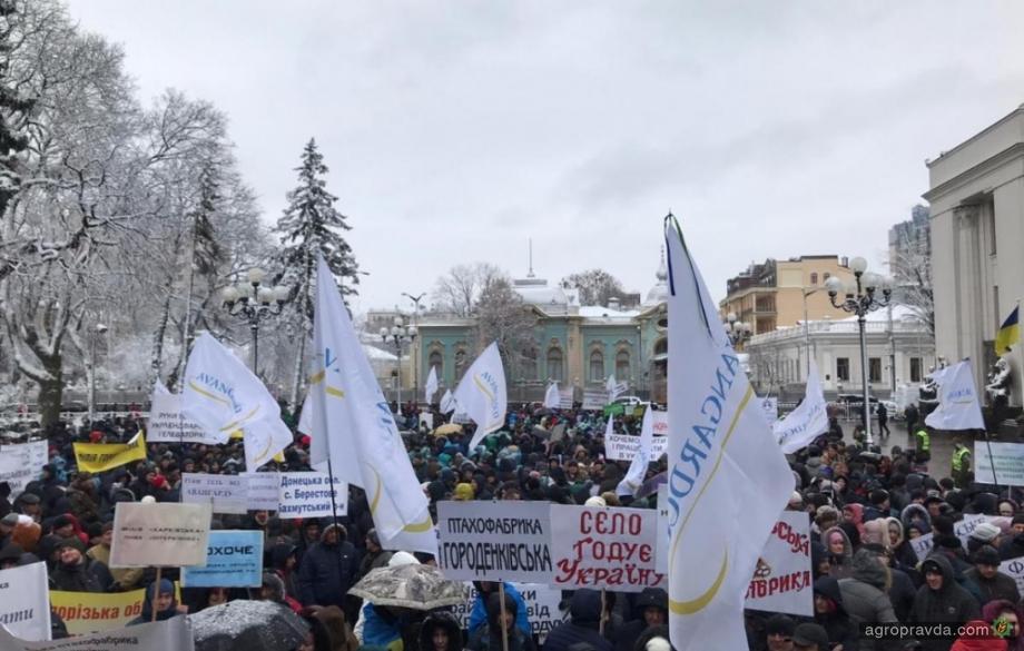 Работники «Укрлендфарминг» вышли на митинг к Верховной Раде