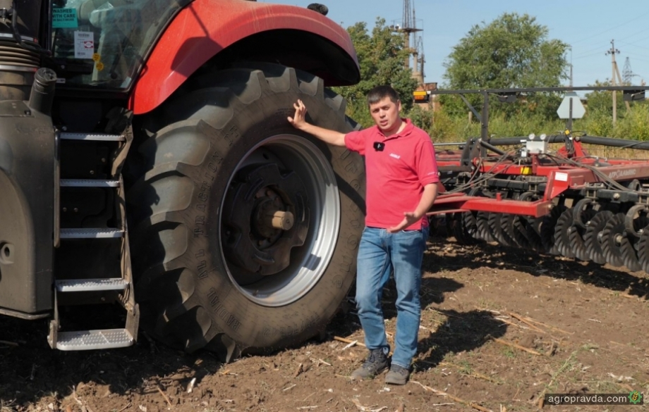 Case IH рассказал об оптимизации работы тракторов. Давление в шинах