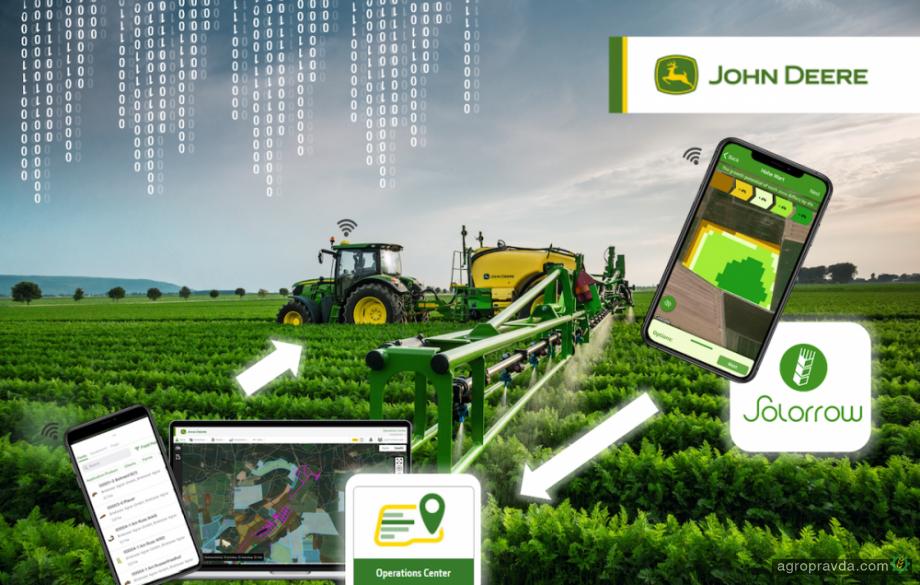 John Deere и Solorrow представили новое приложение для точного земледелия