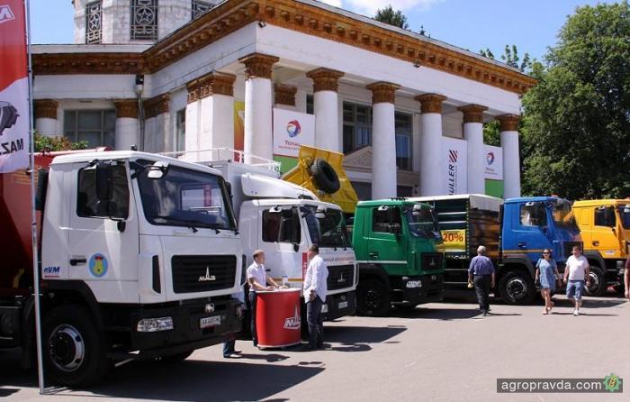 Две новинки зерновозов МАЗ производства Украина представили на Агро 2017