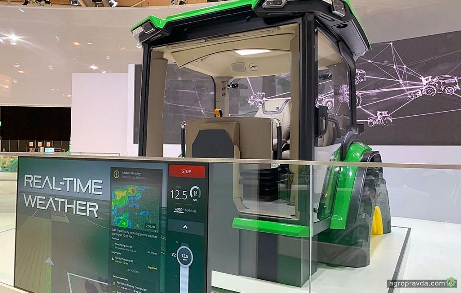 John Deere показал кабину с искусственным интеллектом