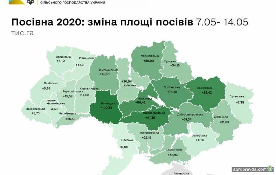 Посевная в Украине подходит к финалу