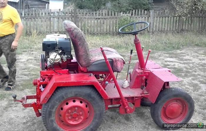 Умелец собрал трактор из «Запорожца». Видео