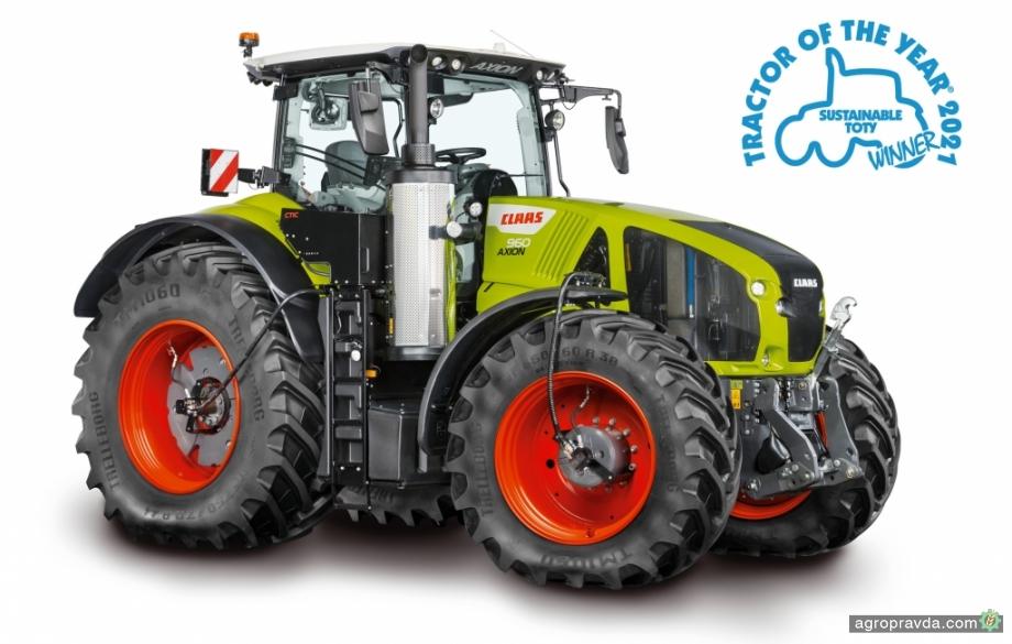 Claas Axion 960 Cemos победил в номинации Sustainable «Трактор года-2021»