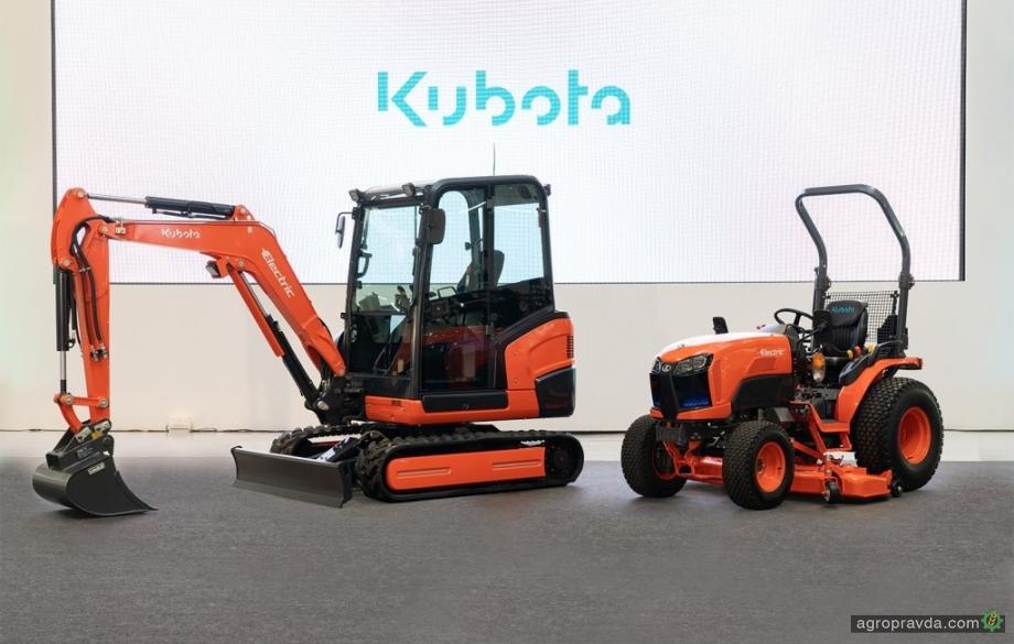 Kubota испытывает прототип первого электрического минитрактора
