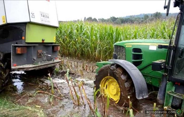 Экстремальная уборка кукурузы. Видео