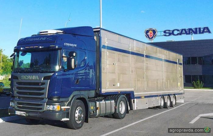 Scania поставила в Украину уникальный тягач для перевозки КРС