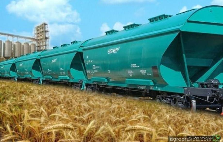 УЗ увеличила перевозку зерновых на 7,5%