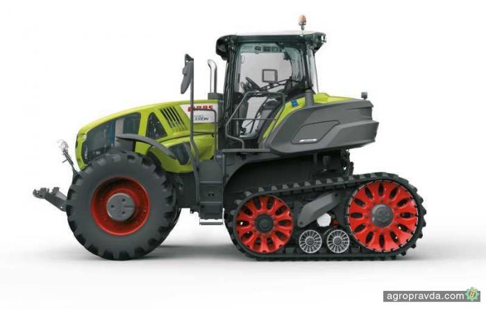 Claas представит первый полугусеничный трактор