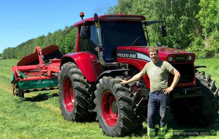 Возрожденный трактор Volvo BM. Видео