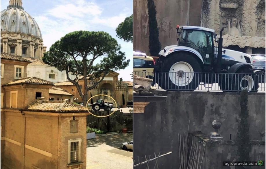 У Папы Римского тоже используют тракторы New Holland