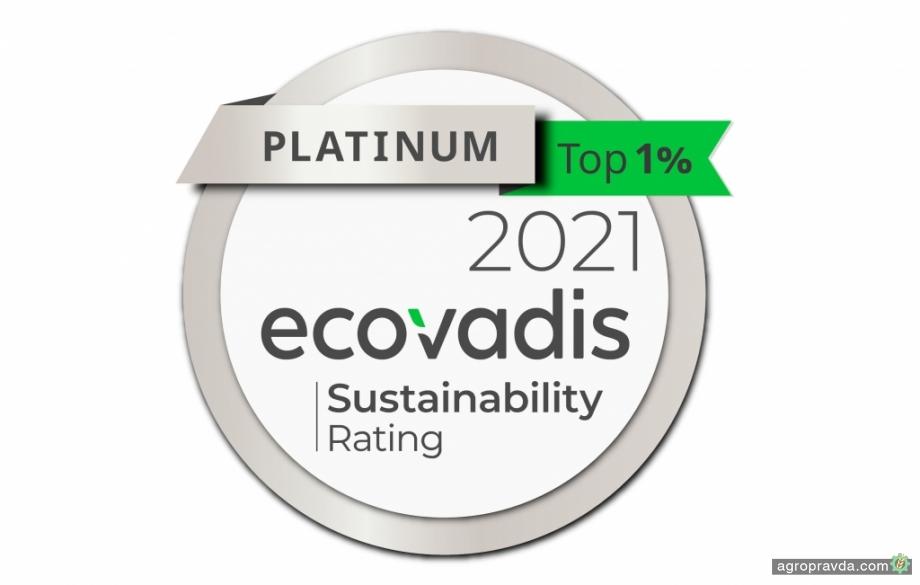 CNH Industrial получает платиновую медаль в рейтинге устойчивого развития E
