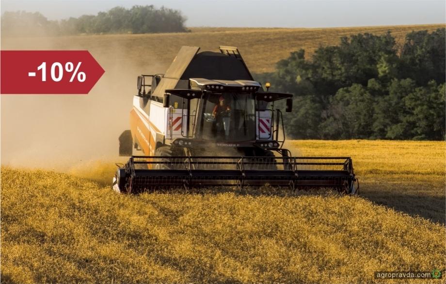 Для поддержки аграриев VERSATILE предлагает скидку 10% на все комбайны!