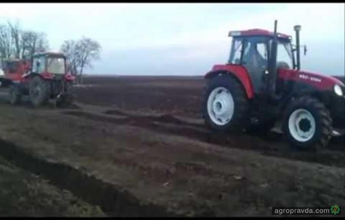 Трактор YTO против Belarus'а. Видео