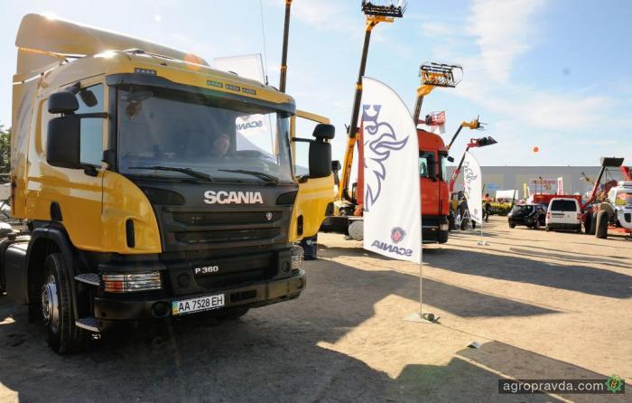 Техника Scania на выставке АгроЭкспо в Кировограде. Фото