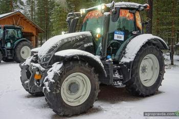 Самый северный тест-драйв трактора Valtra. Видео