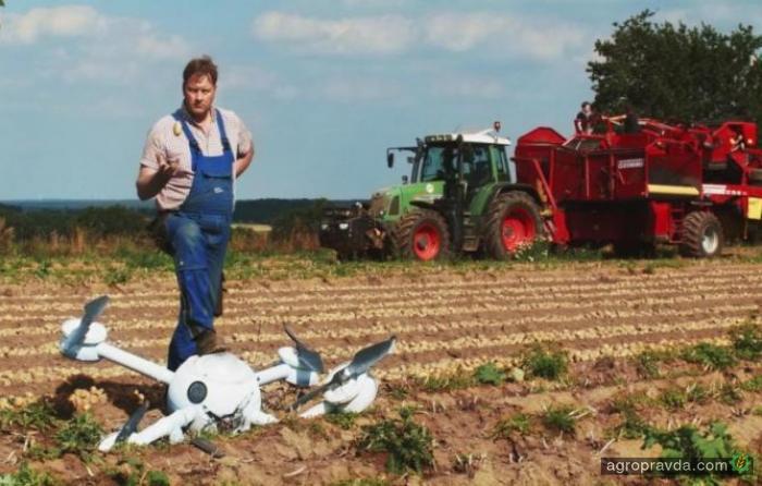Фермер показал новый метод борьбы с дронами. Видео