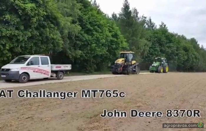 John Deere против Challenger: кто кого. Видео