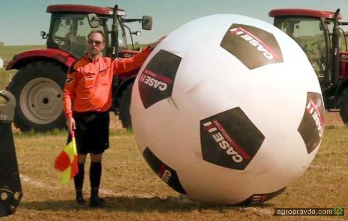 Футбол на тракторах. Видео