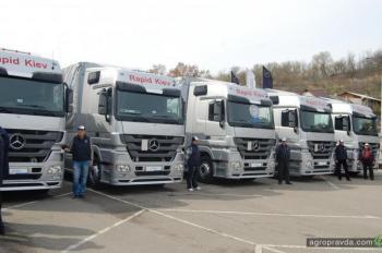 Украинские компании активно обновляют парк грузовиками Mercedes-Benz