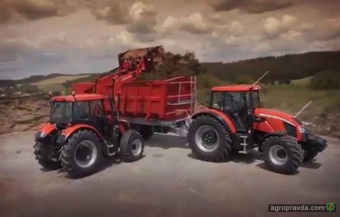 На что способны трактора Zetor. Видео