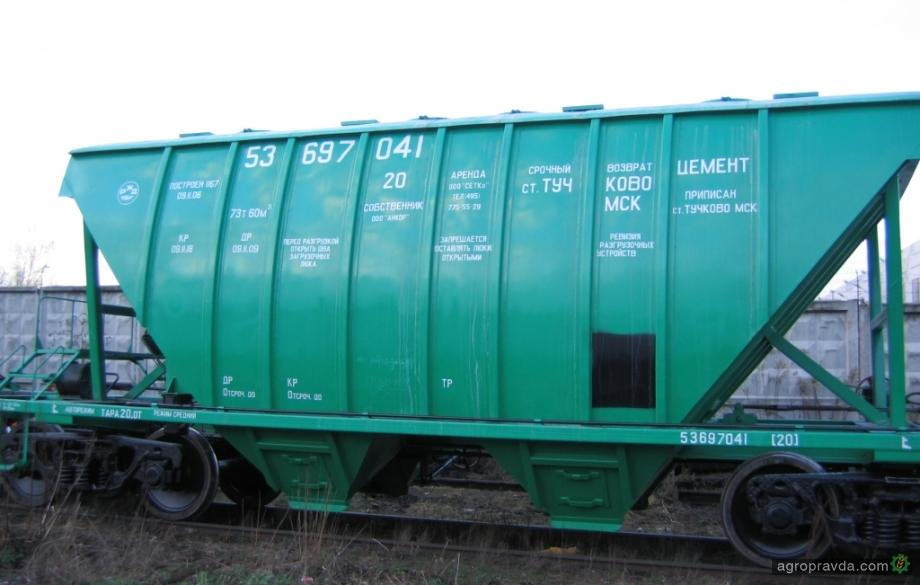 Аграрии усилили логистику вагонами-хопперами на 38 млн. грн.