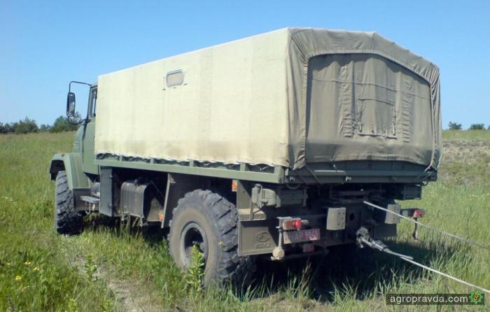 КрАЗ-6322 «Солдат» испытывает отечественные гидролебеди