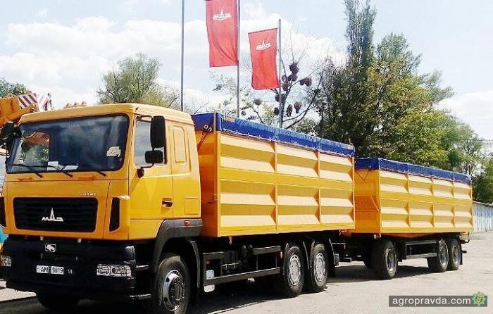 В Украине действует специальное предложение на автопоезд-зерновоз МАЗ 6501