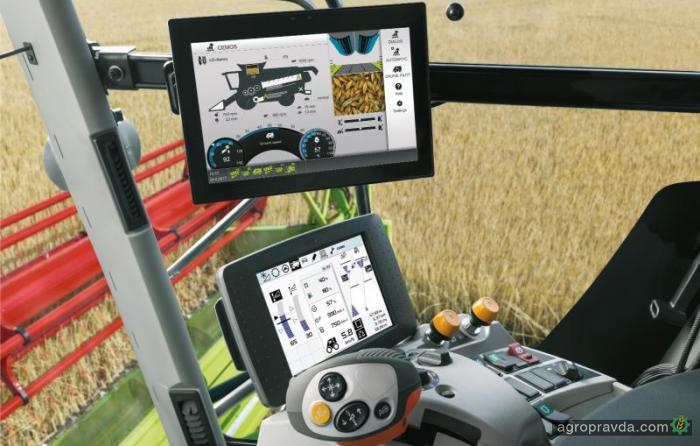 Claas представил новый сенсорный экран для комбайнов Lexion
