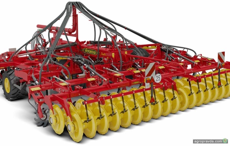 Обладнання виробництва Väderstad для внесення добрив під час обробітку ґрунту