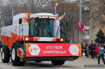Олимпийский огонь в Сочи повезет комбайн