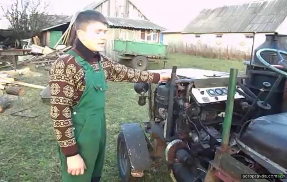 Умелец собрал трактор на дровах. Видео