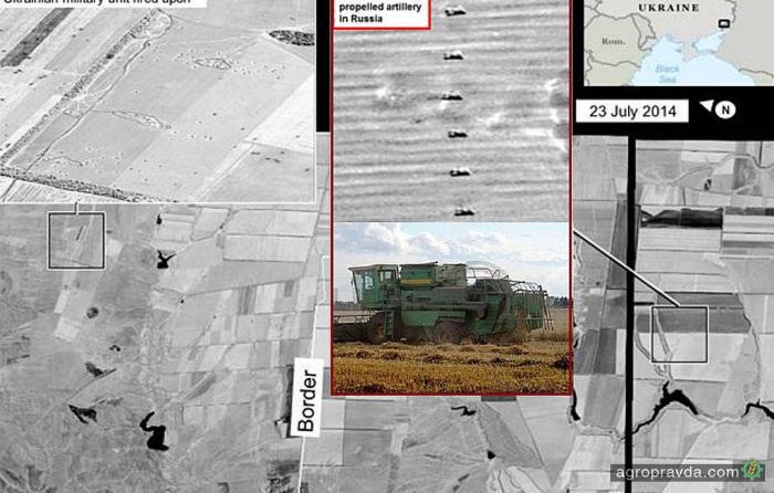 Россияне утверждают: американские шпионы перепутали танки с комбайнами