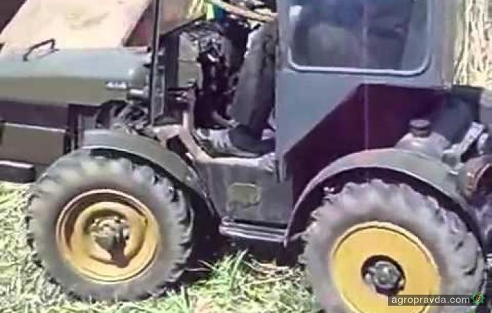 Самодельный трактор из УАЗа. Видео