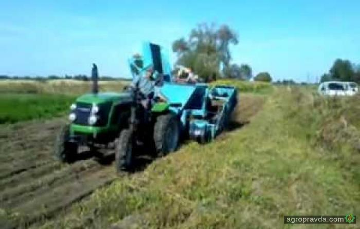 Трактор Chery в работе. Видео